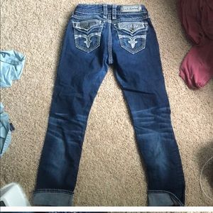 Rock revival jeans size 26 straight leg not crop
